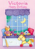Happy Birthday - Window And Toys - Girls Names